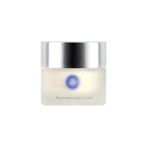 【Aqua More Night Cream 保濕滋潤晚霜】豐富輕柔的質感令肌膚變得飽滿有效減輕細紋改善膚色令肌膚柔軟光澤