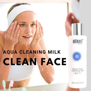【Aqua More Cleansing Milk 水感輕柔潔面乳】清爽質地不含起泡劑含多種植物天然成份有助清潔面部污垢不刺激肌膚敏感肌也適合使用
